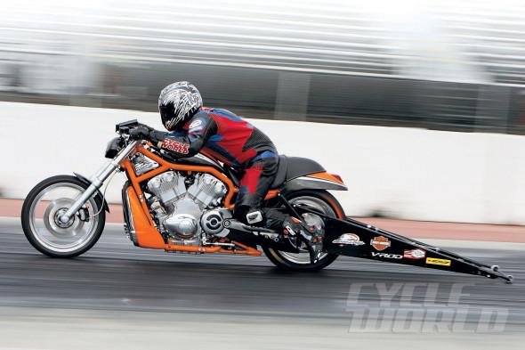 Harley-Davidson 165-hp V-Rod Destroyer Drag Racing Bike | Cycle World