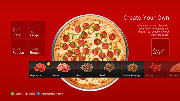 Gamers Have Ordered $1 Million In Pizza Hut Through Xbox 360