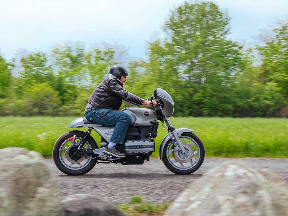 1985 BMW K100 - From Clunky To Café Custom   Motorcycle Cruiser