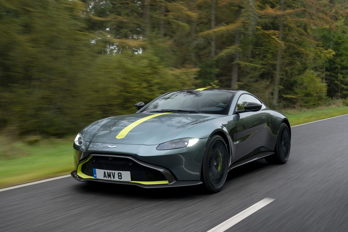 First shifts with Aston Martin's manual transmission Vantage AMR