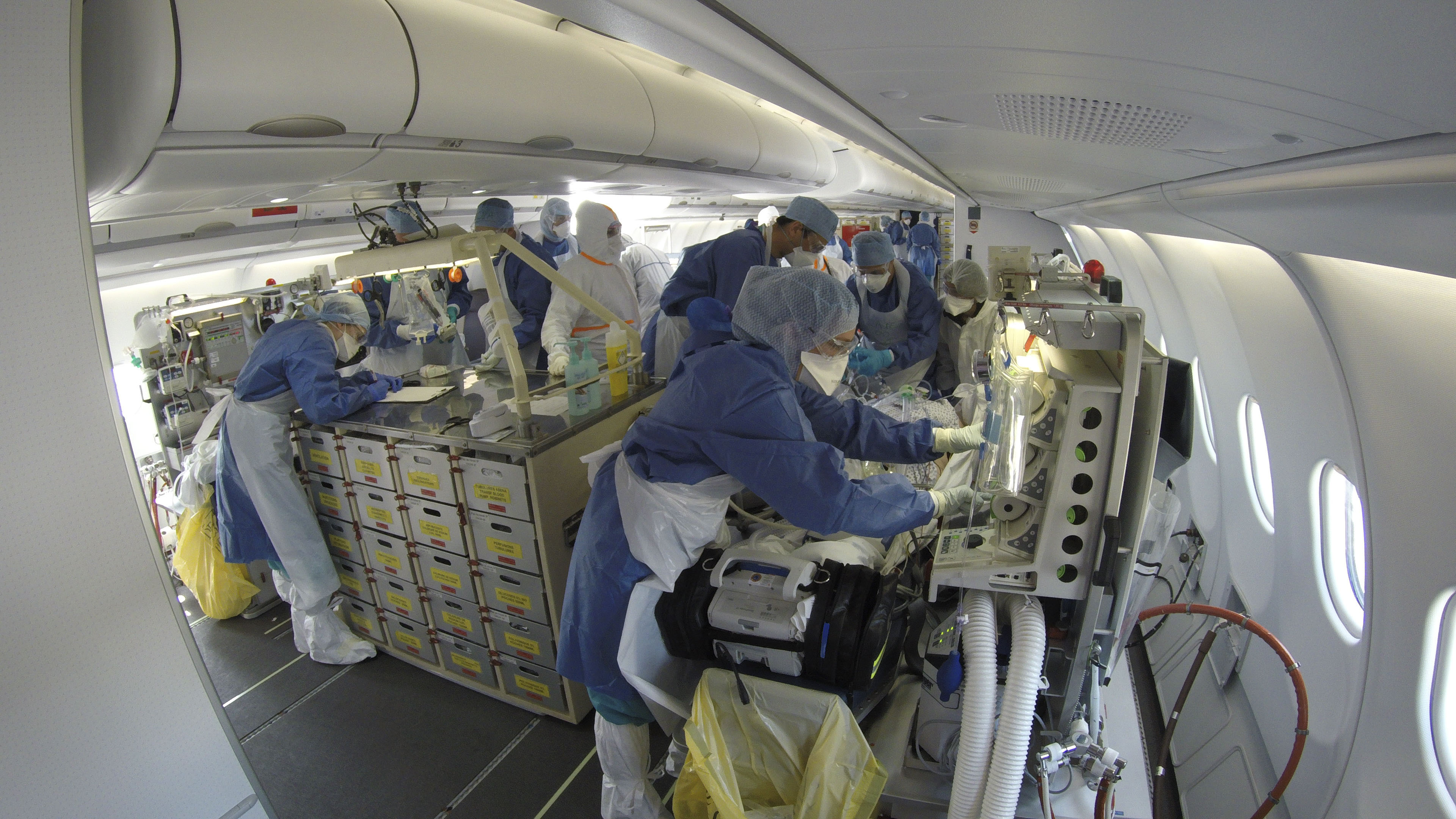 Inside the flying military hospital that's treating COVID-19 patients