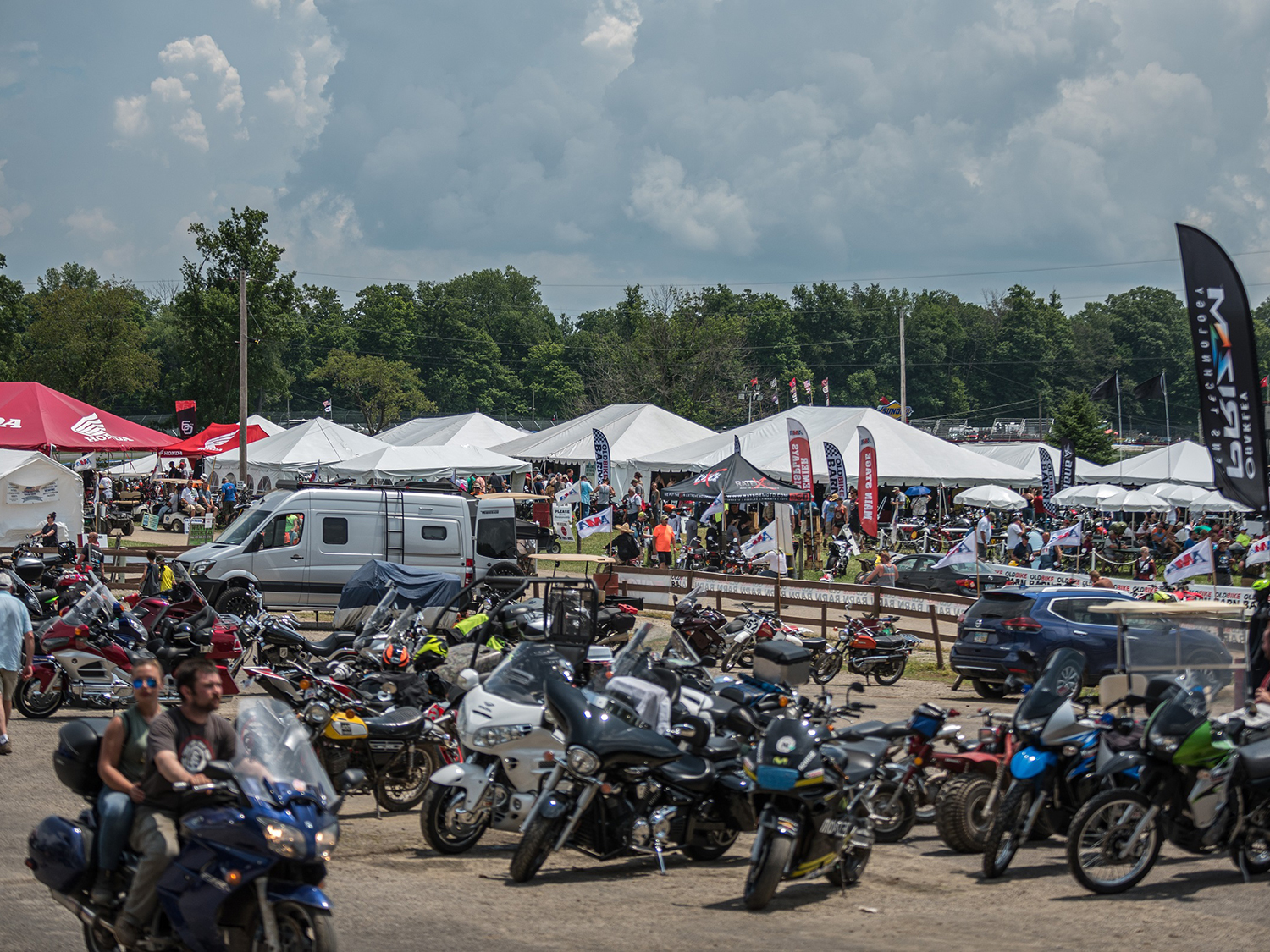 Fans at the 2019 AMA Vintage Motorcycle Days.