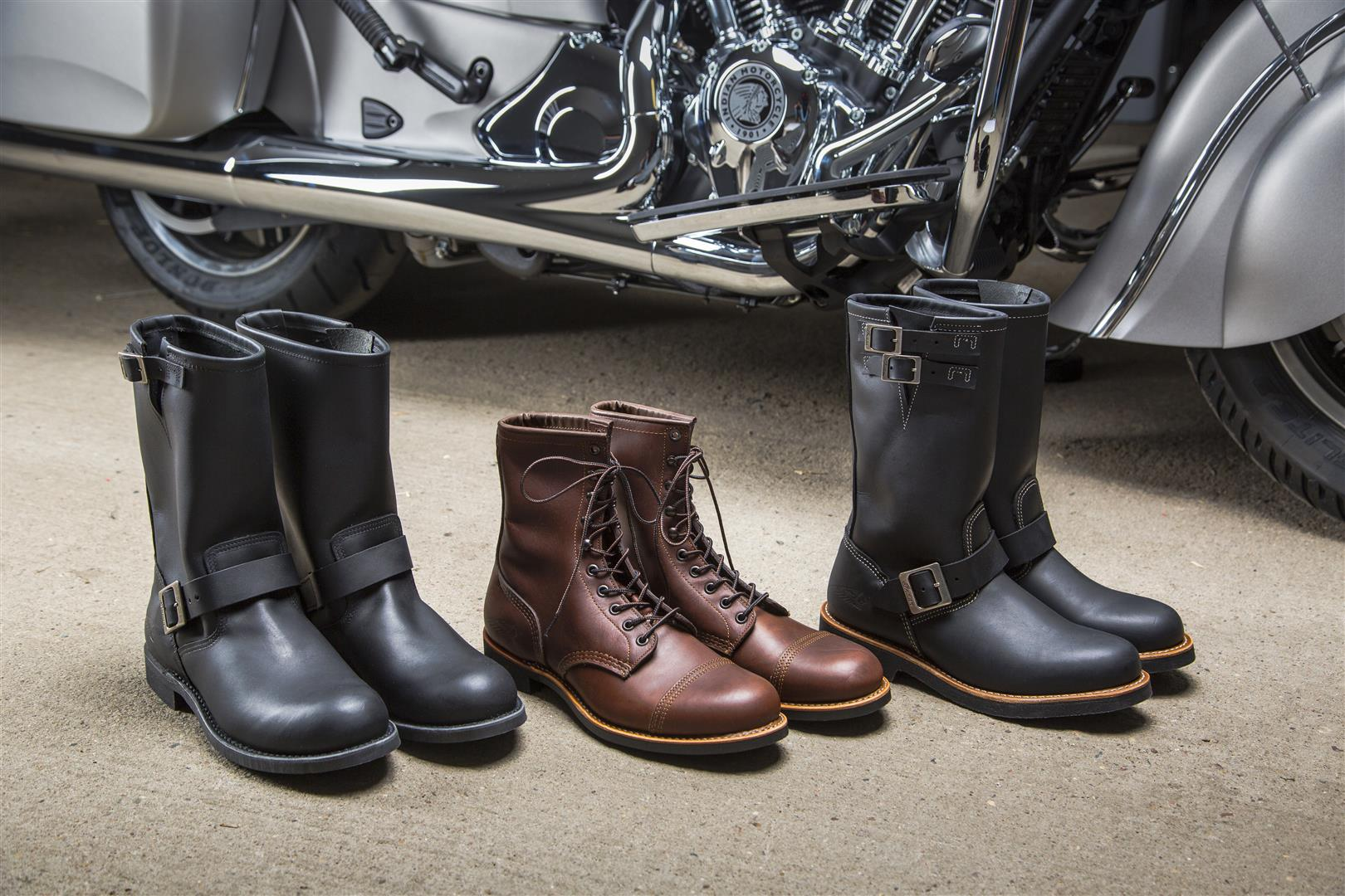 Red Wing Motorcycle Boots by Indian