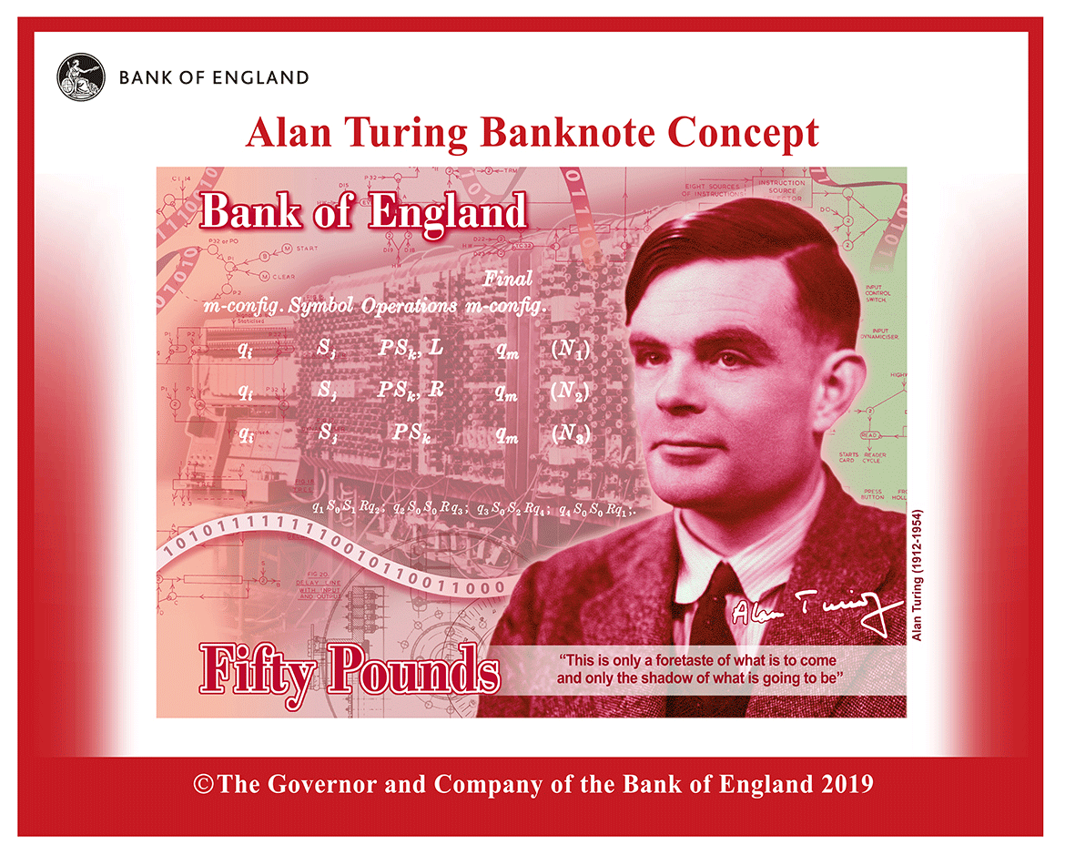 Britain makes Alan Turing, the father of AI, the face of its 50-pound note