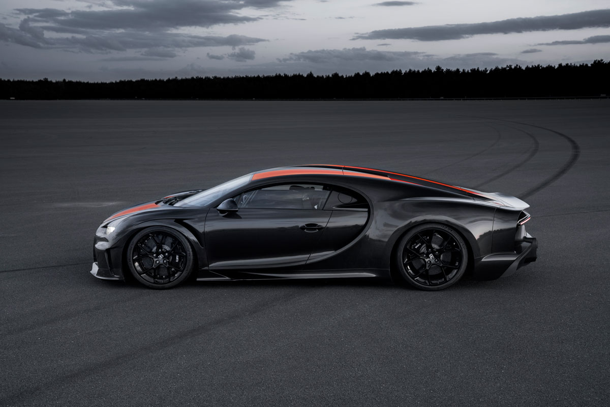 The Bugatti Chiron supercar broke the 300 mph barrier and set a speed new speed record