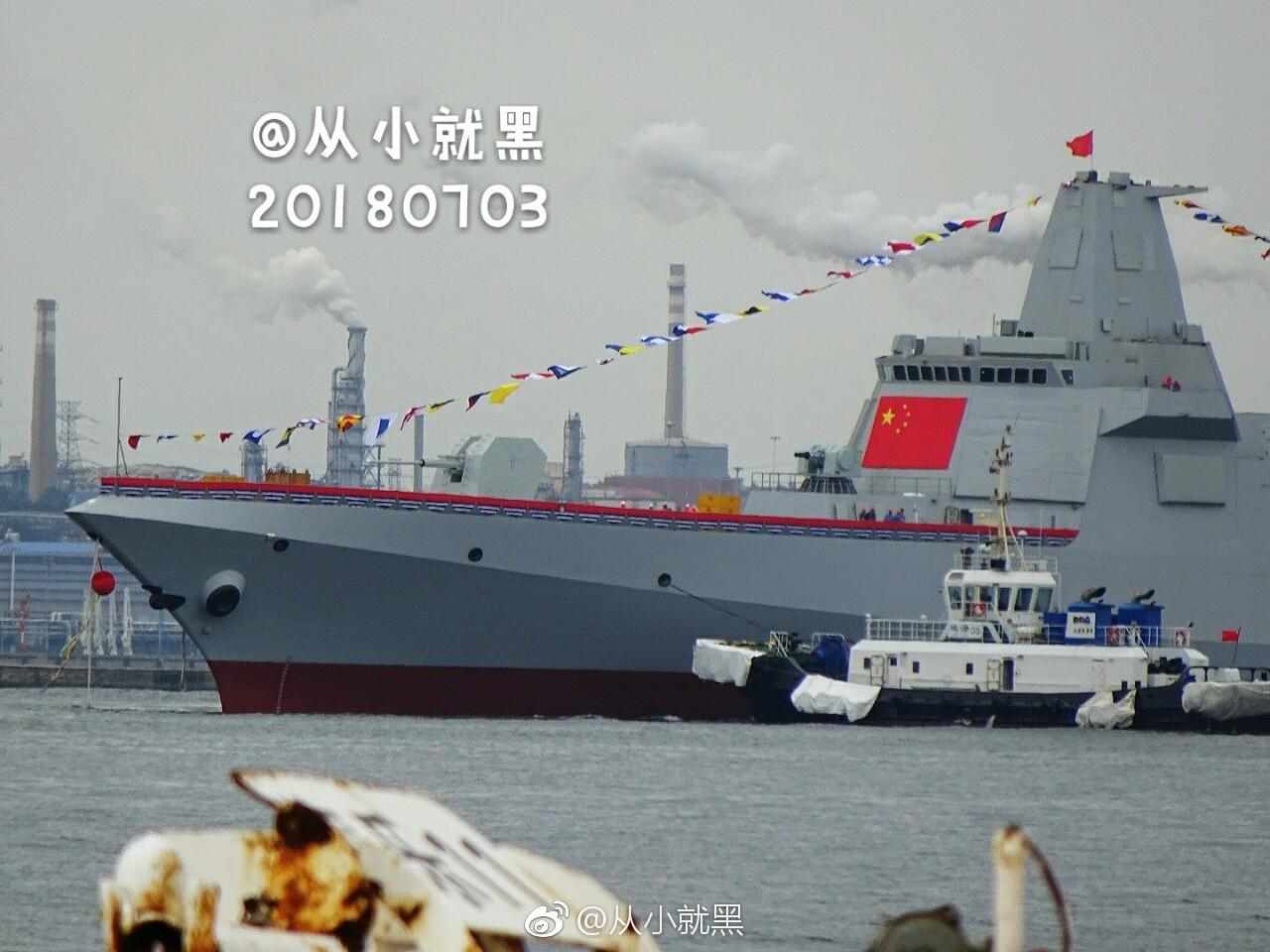 China launched two more massive Type 055 warships