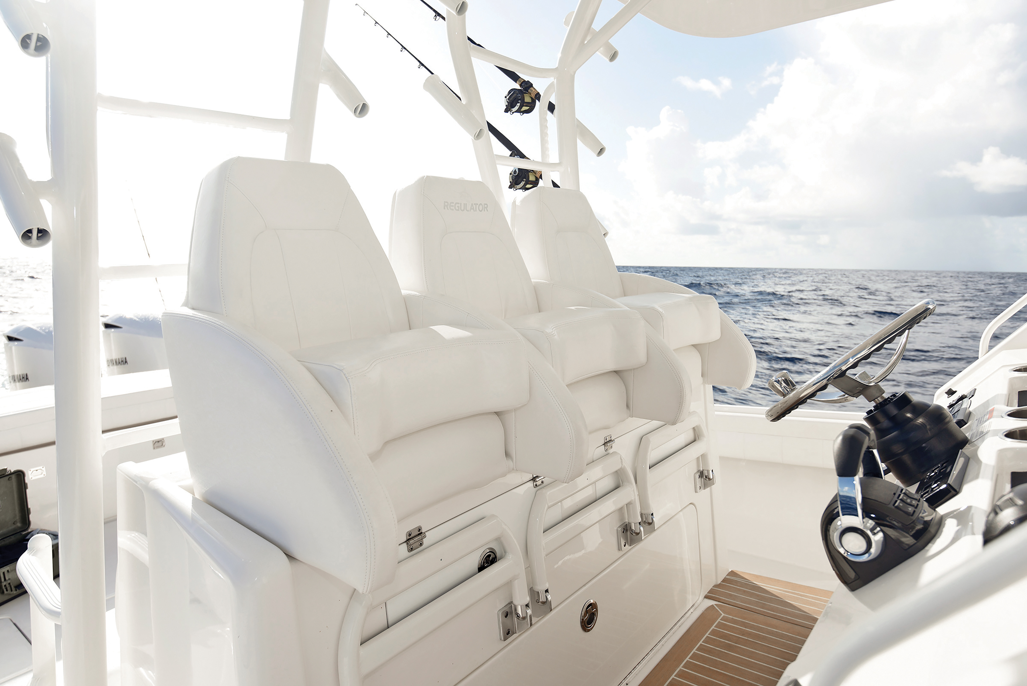 Groovy New Helm Chairs On Fishing Boats Sport Fishing Magazine Theyellowbook Wood Chair Design Ideas Theyellowbookinfo
