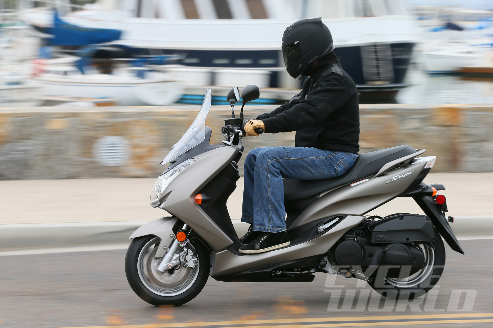 2015 Yamaha SMAX Scooter Review- First Ride Photos