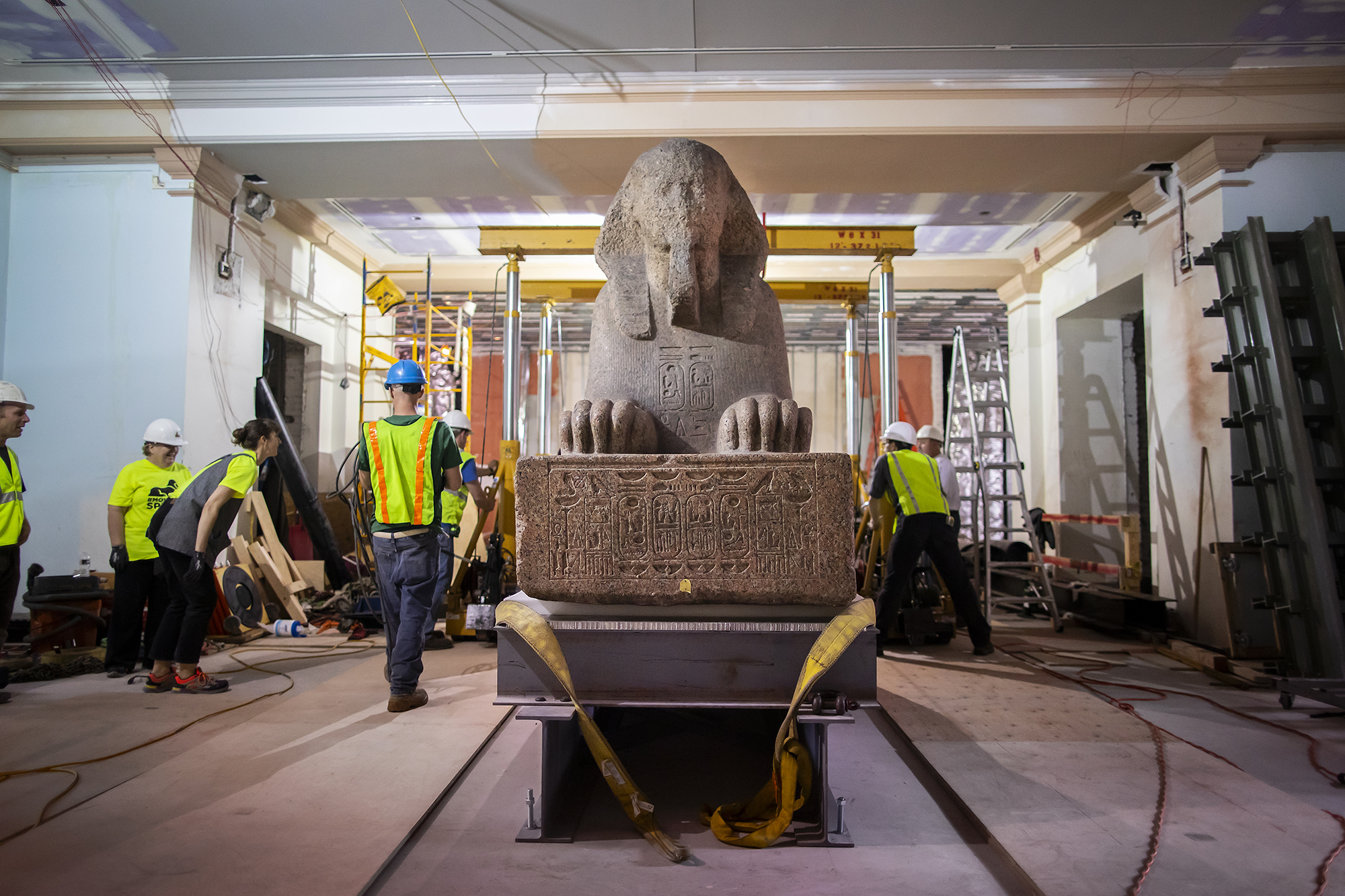 The secret to moving this ancient sphinx? Hoverboards