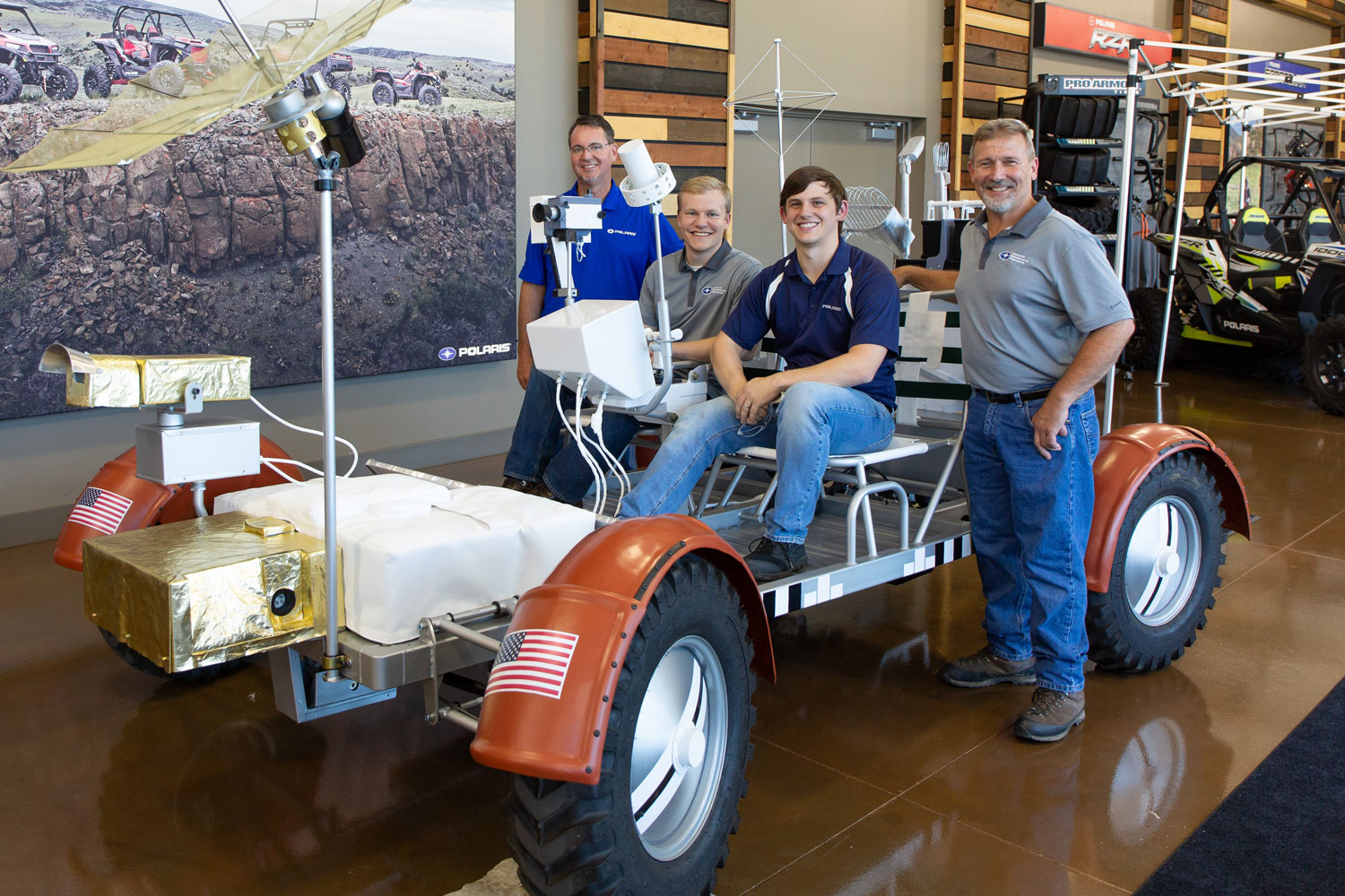 Polaris built a lunar rover replica that can drive 60 miles per hour here on Earth