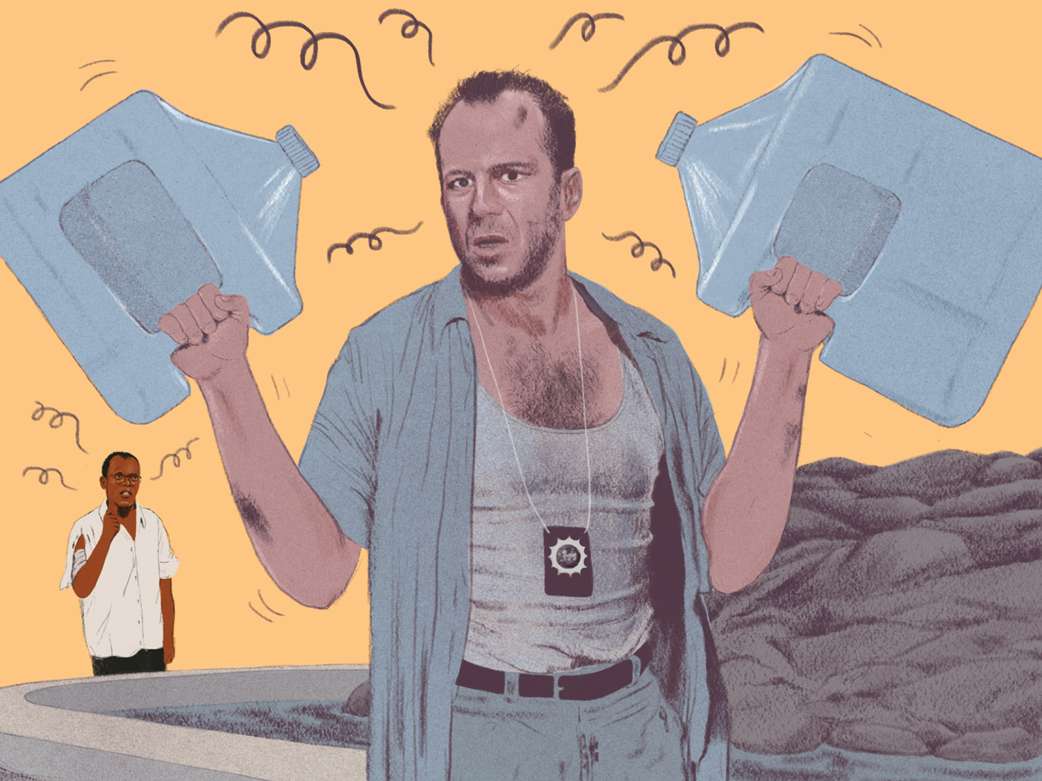 How to solve the water puzzle from Die Hard 3