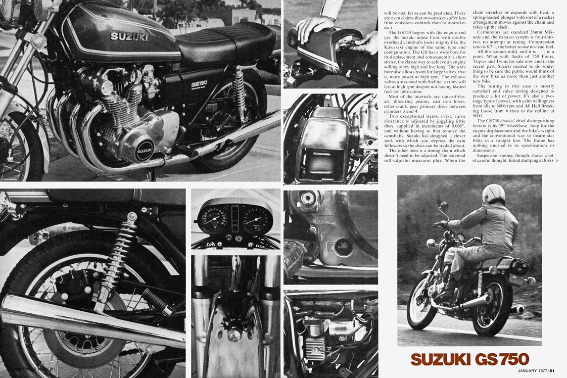 Suzuki GS750 and GS1000 Motorcycle History, CLASSICS