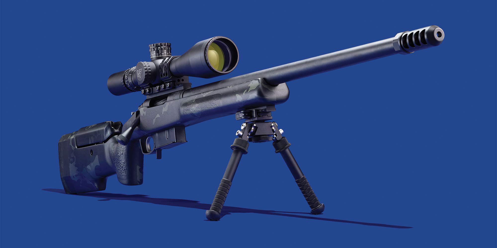 ga precision rifle on a blue background