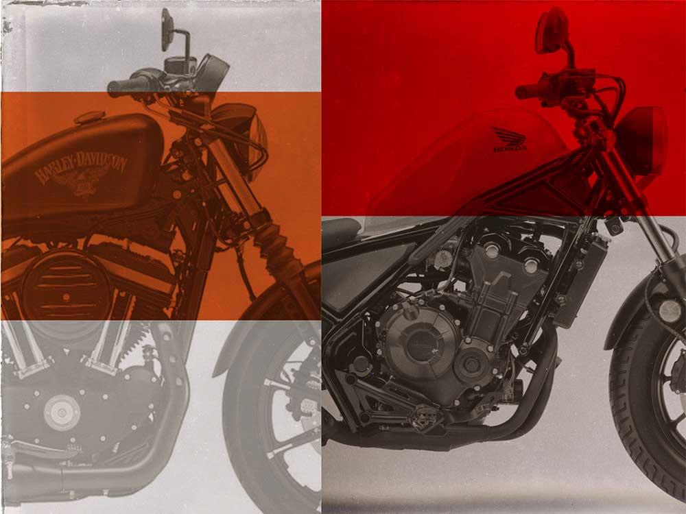 2018 Harley-Davidson Sportster vs  2018 Honda Rebel 500   Motorcycle