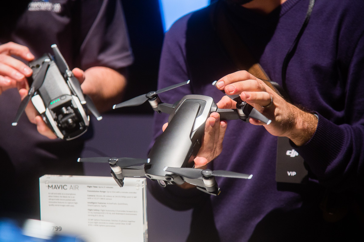 DJI's Mavic Air Drone uses more than a dozen sensors to keep it from crashing