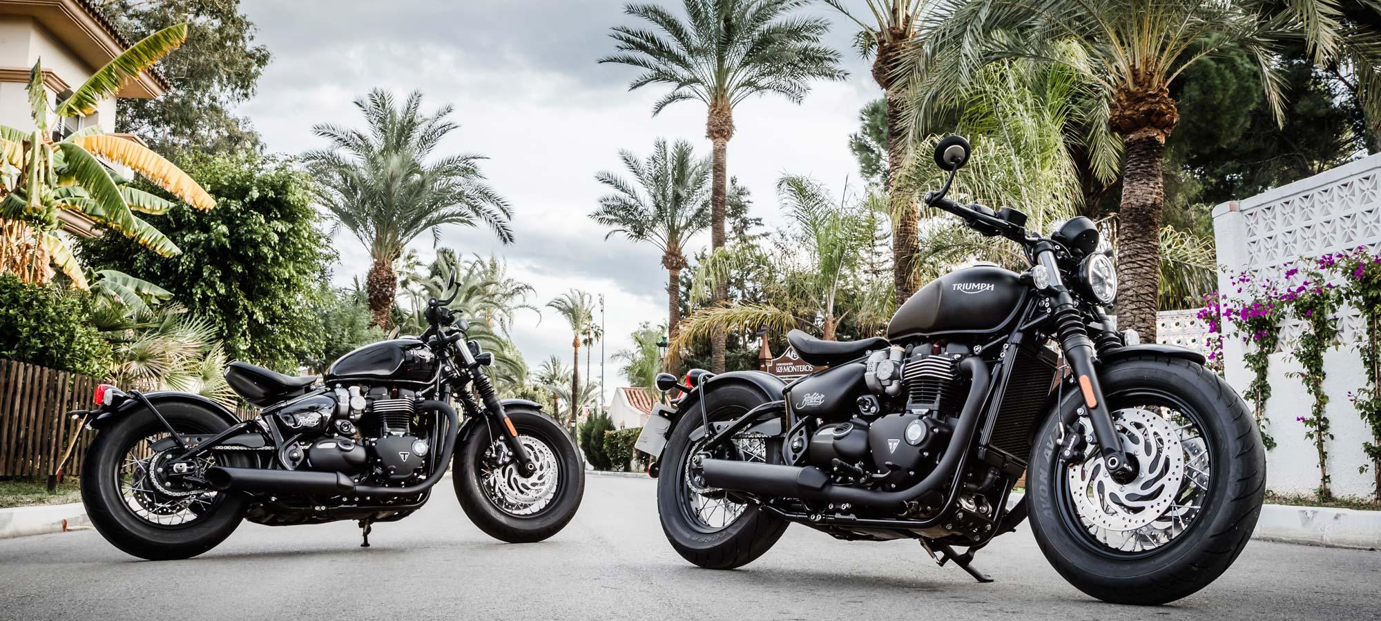 2018 Triumph Bonneville Bobber Black Motorcycle Review Cycle World