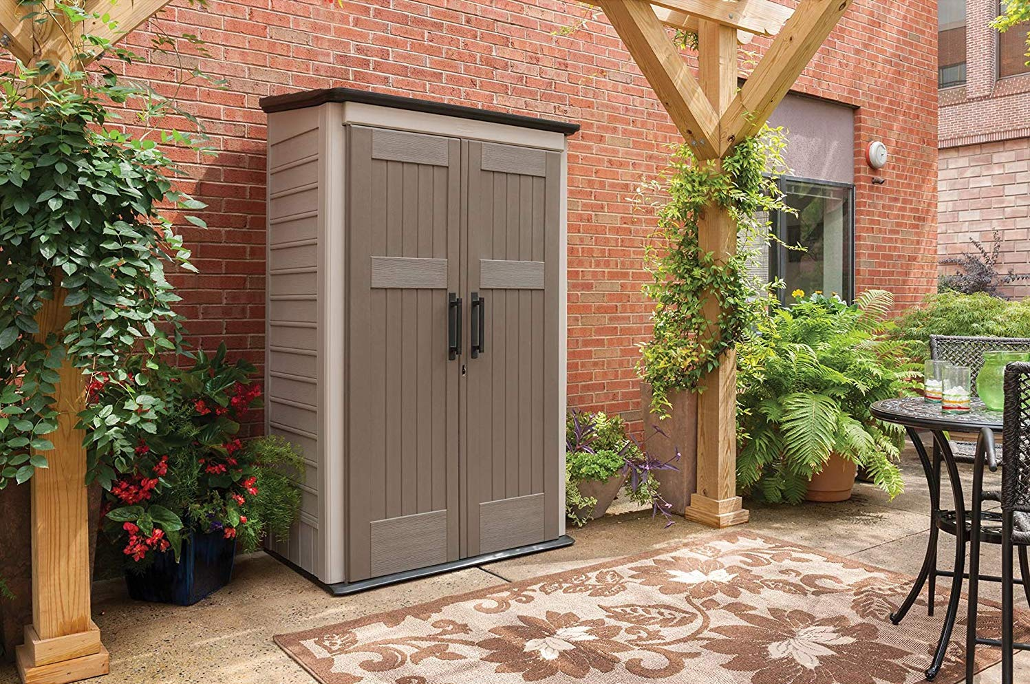Outdoor sheds for storing your tools, lawn mowers, back-up generators, whatever
