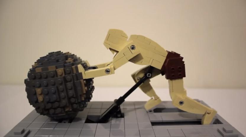 Robotic Lego Sisyphus Is All Of Us