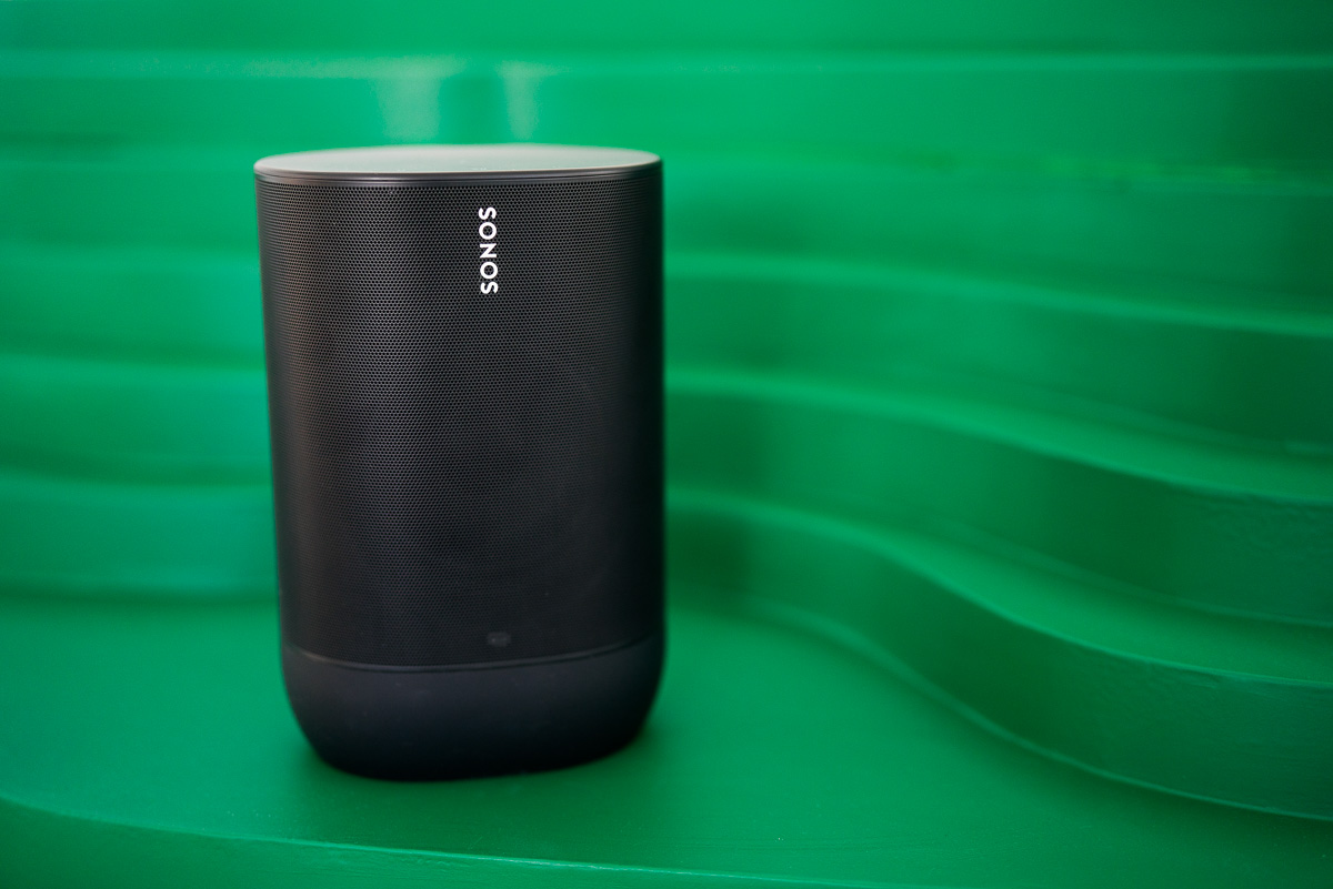 The Sonos Move is a $400 Bluetooth-enabled portable speaker that automatically adjusts to its surroundings