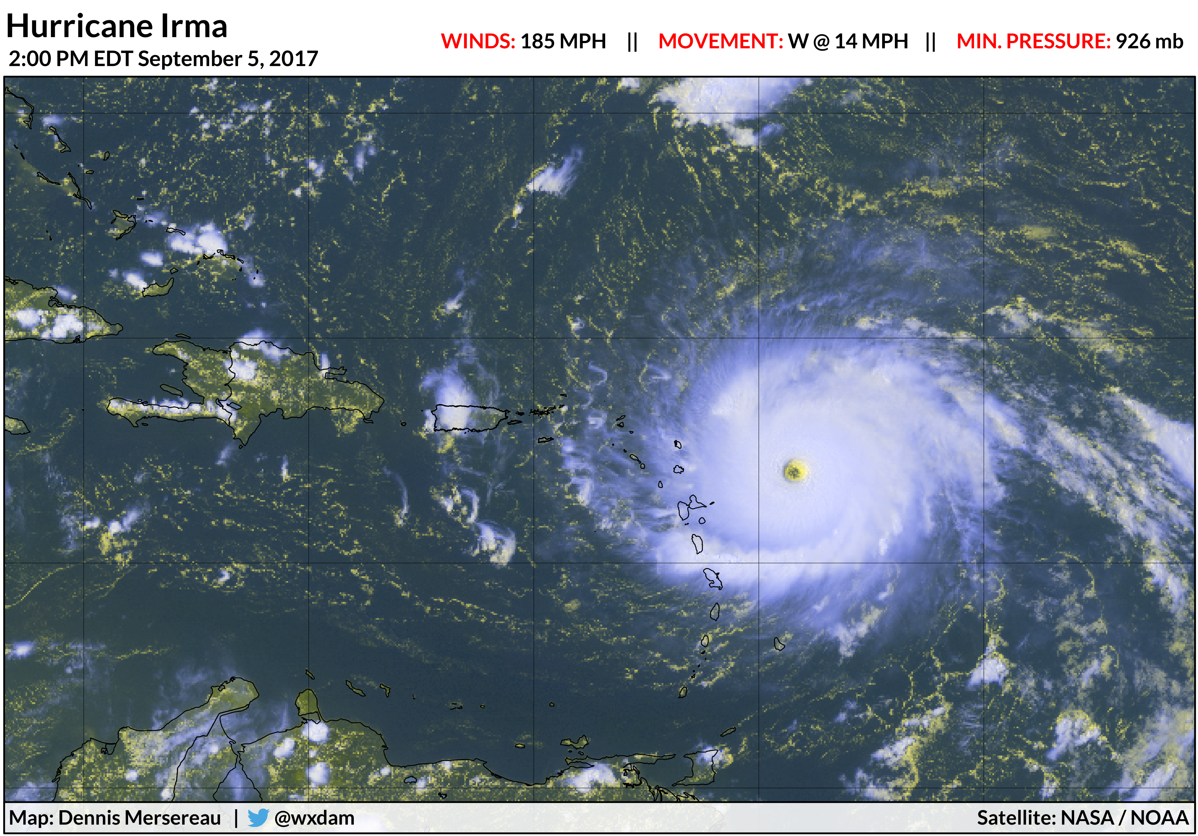 Hurricane Irma threatens the United States with power rarely seen