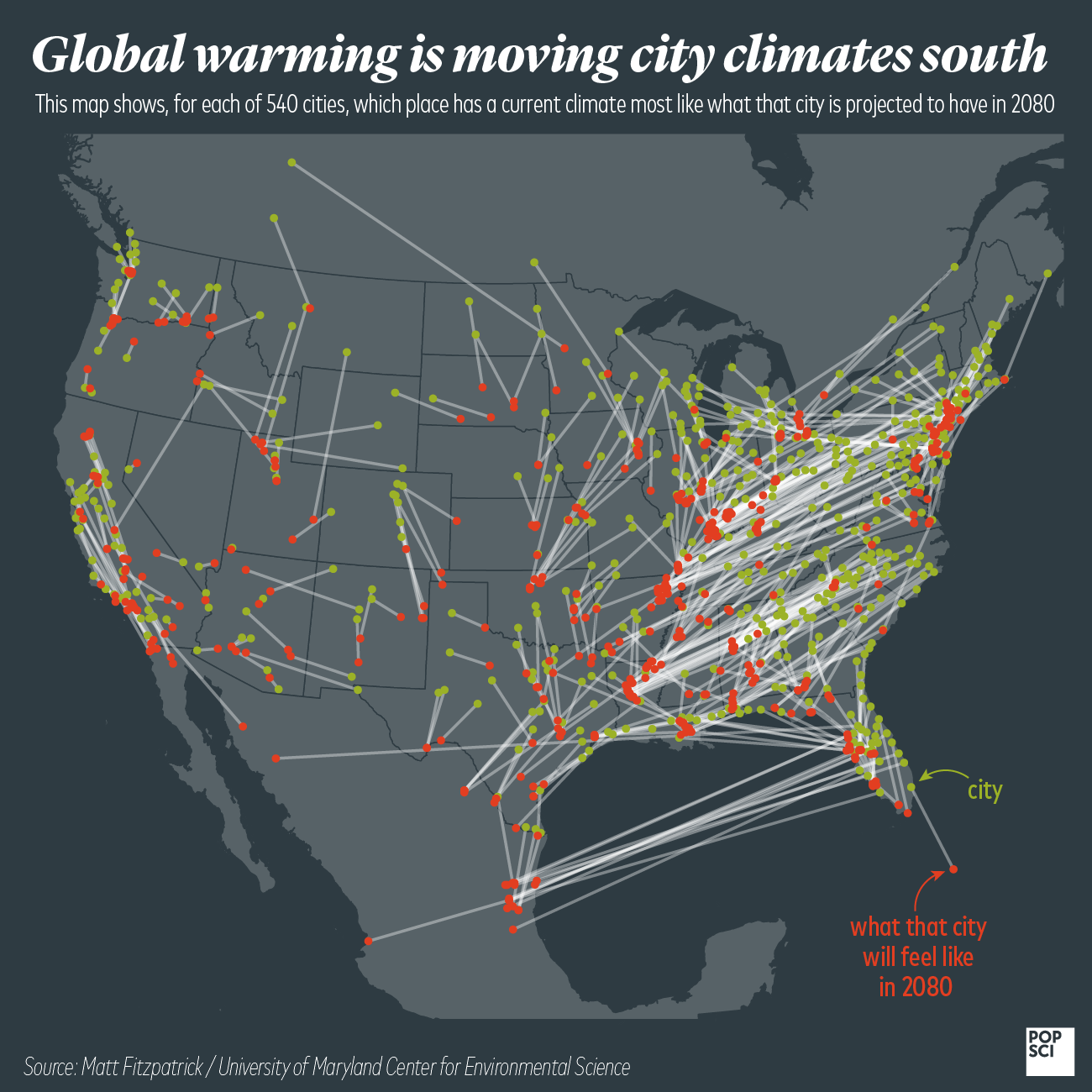 Here's how your town's weather will change by 2080