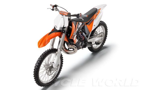2012 KTM SX Motocrossers First Look Reviews- New KTM MX