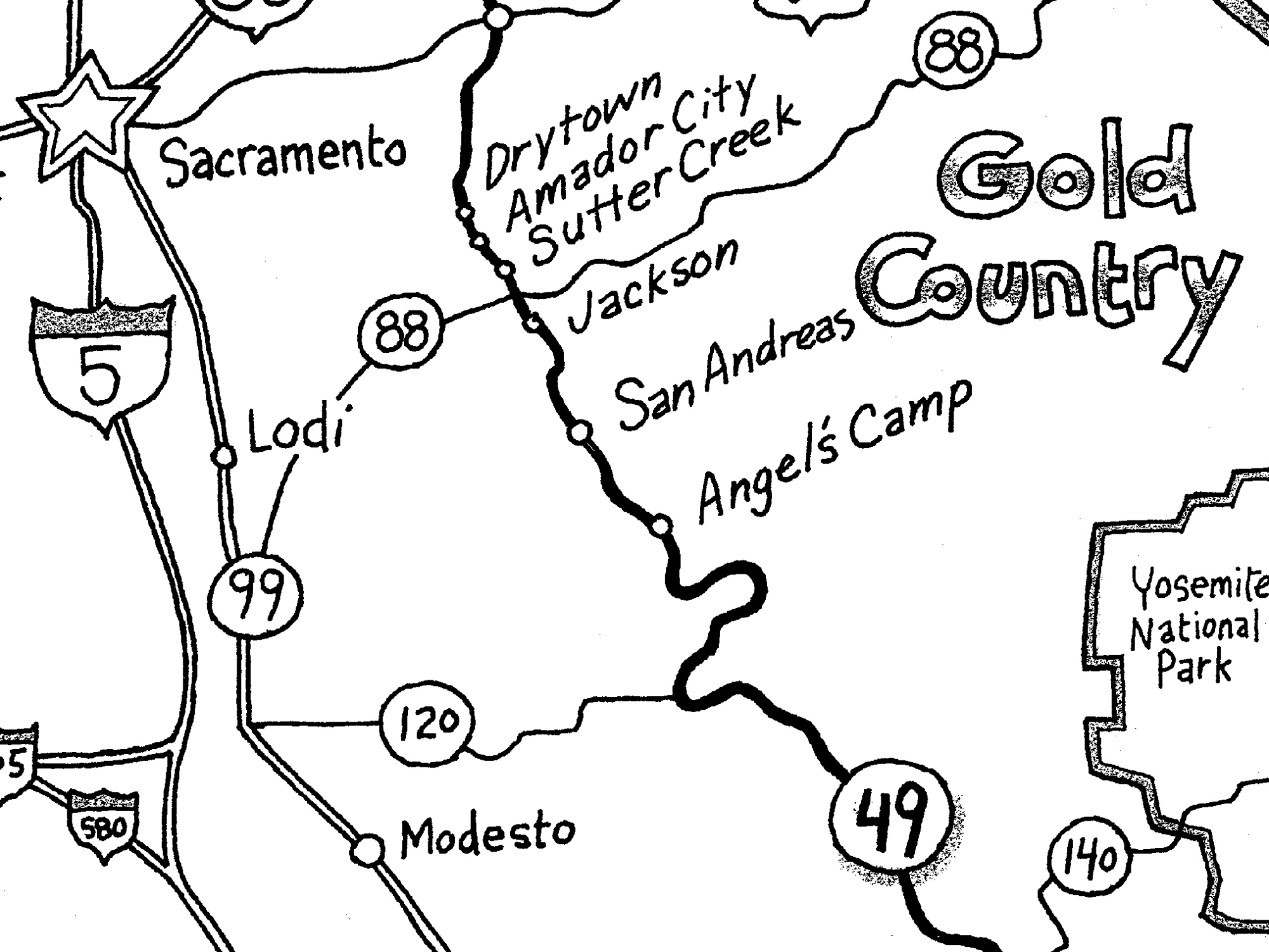 Touring California's Gold Country on State Route 49