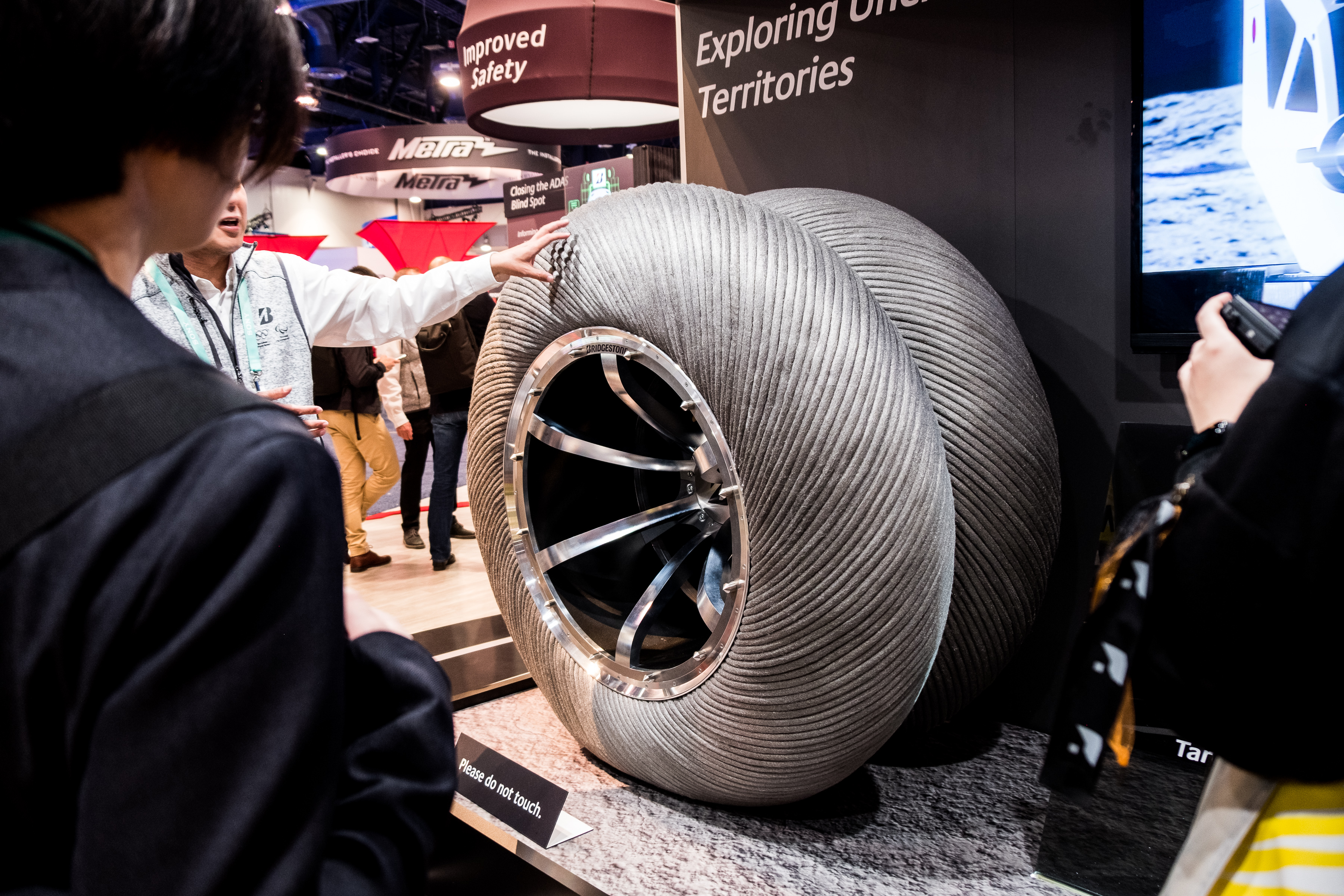 These lunar rover tires mimic camel hooves for maximum traction on the moon