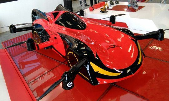 China Reveals Flying Robot Car