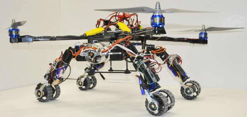 Snake Robots And A Quadcopter Fuse Together In This Chimera
