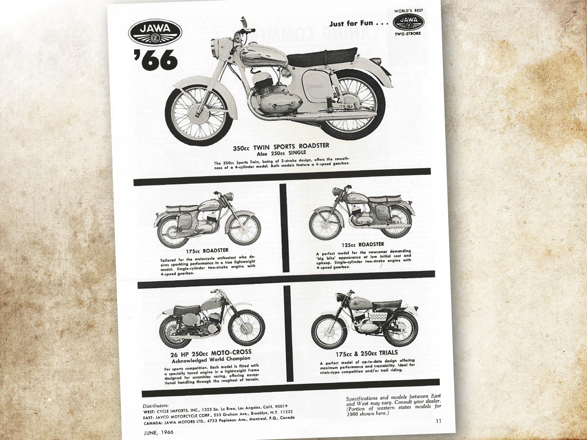 Motorcyclist Archives 1966: 85cc Kawasaki, BMW 4 and a