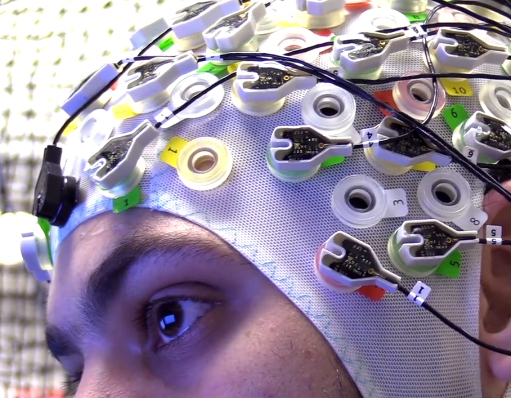 This Scientist Is Commanding A Swarm Of Drones With His Mind