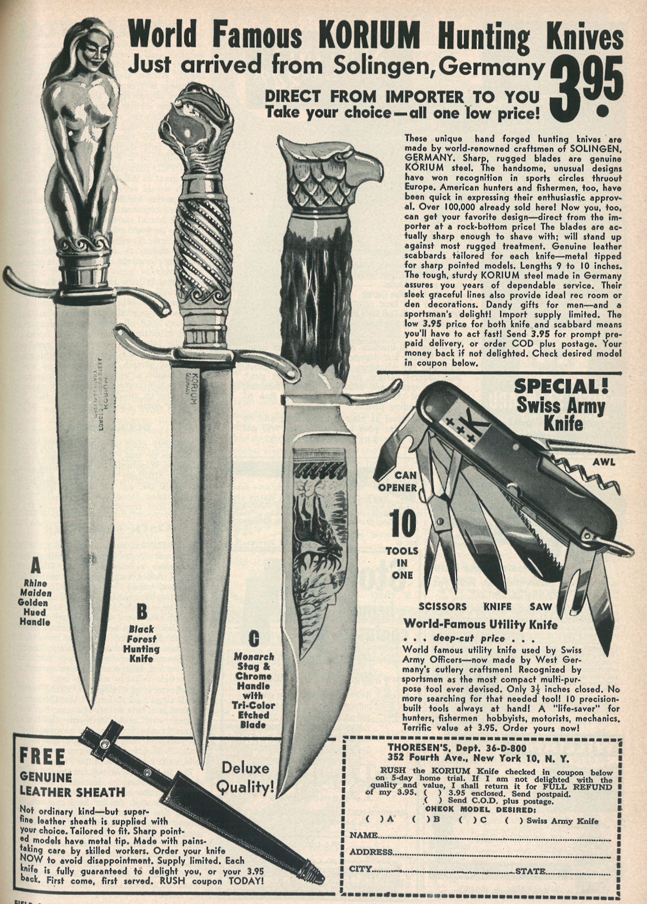 Vintage Field & Stream Knife Ads From the '40s through the