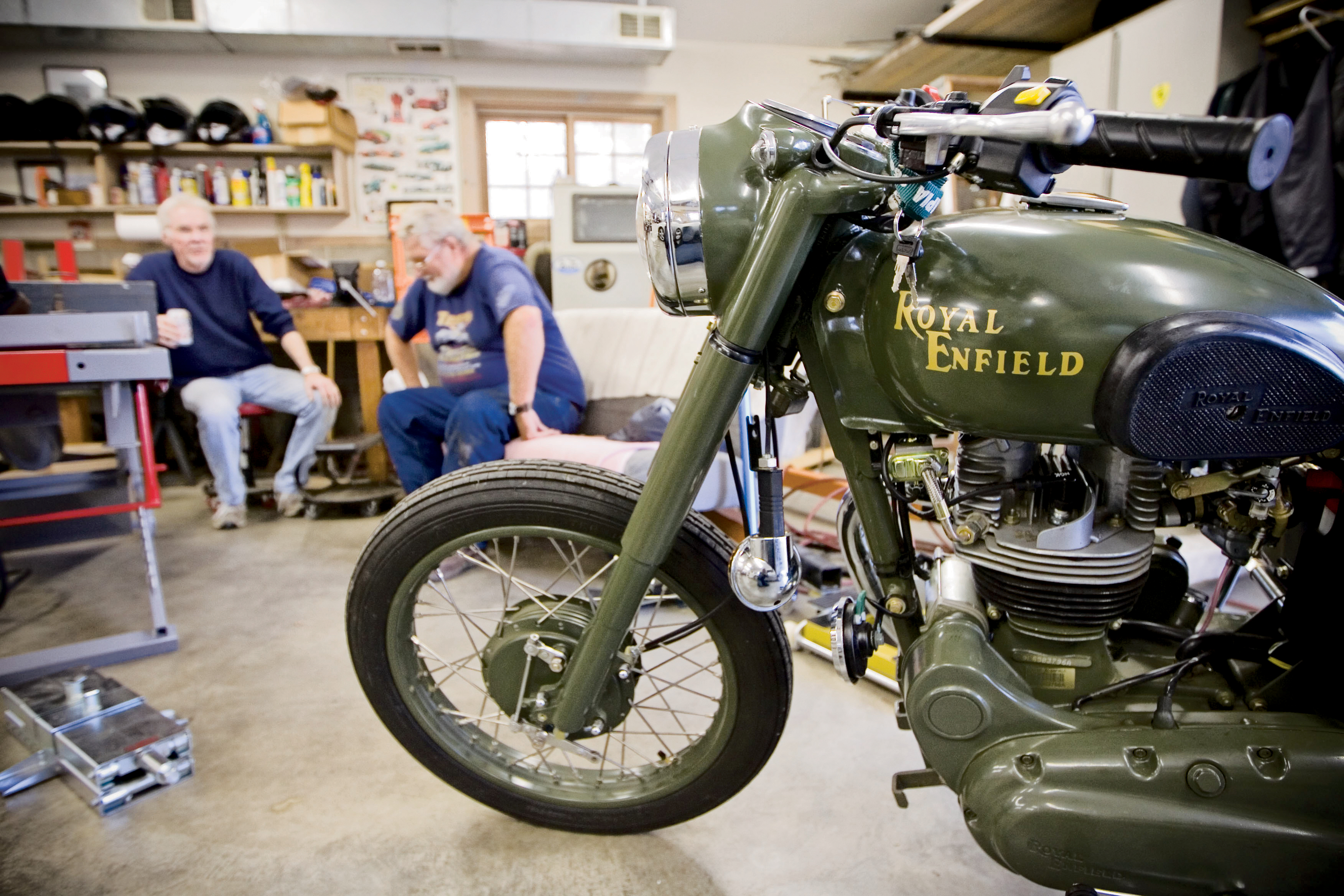 Royal Enfield Bullet 500 Military Motorcycle Test Ride Cycle World