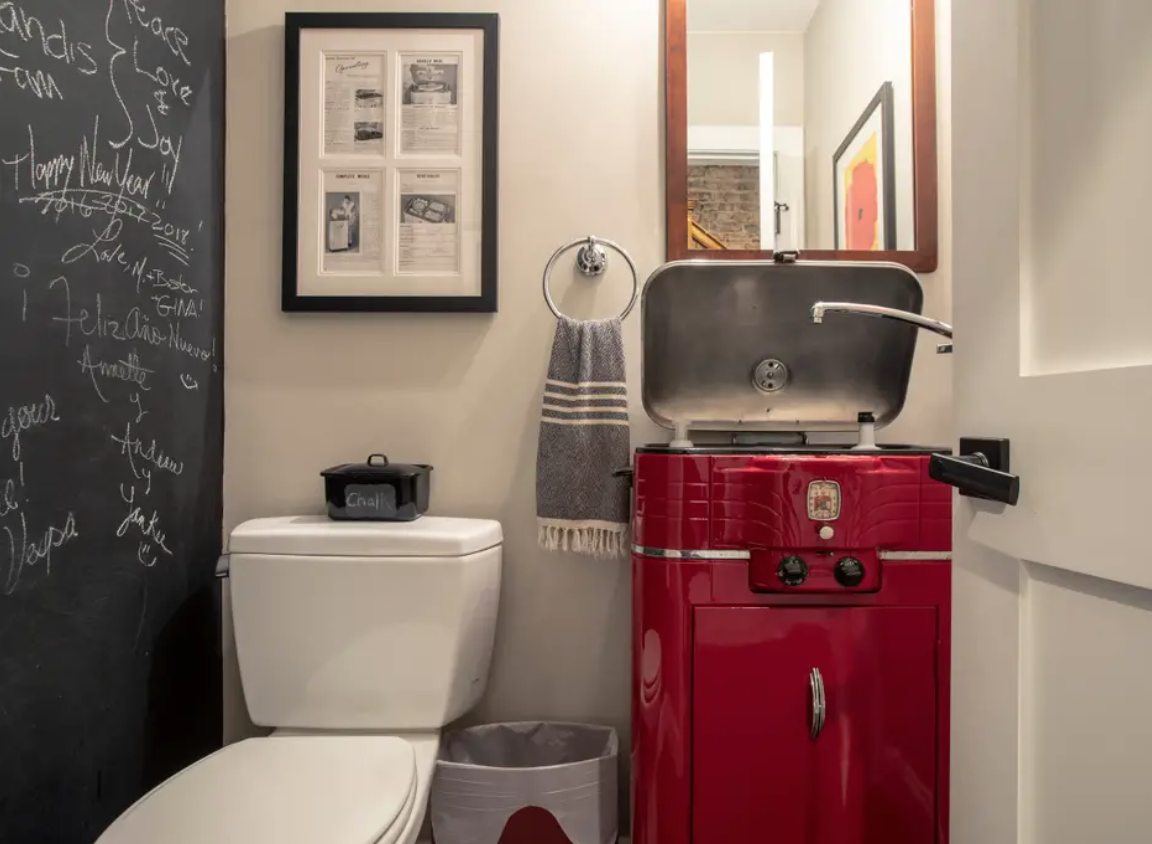 How an old oven became a sink