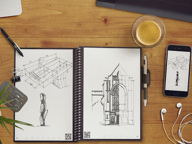 This reusable notebook lets you sync your scribbles to the cloud