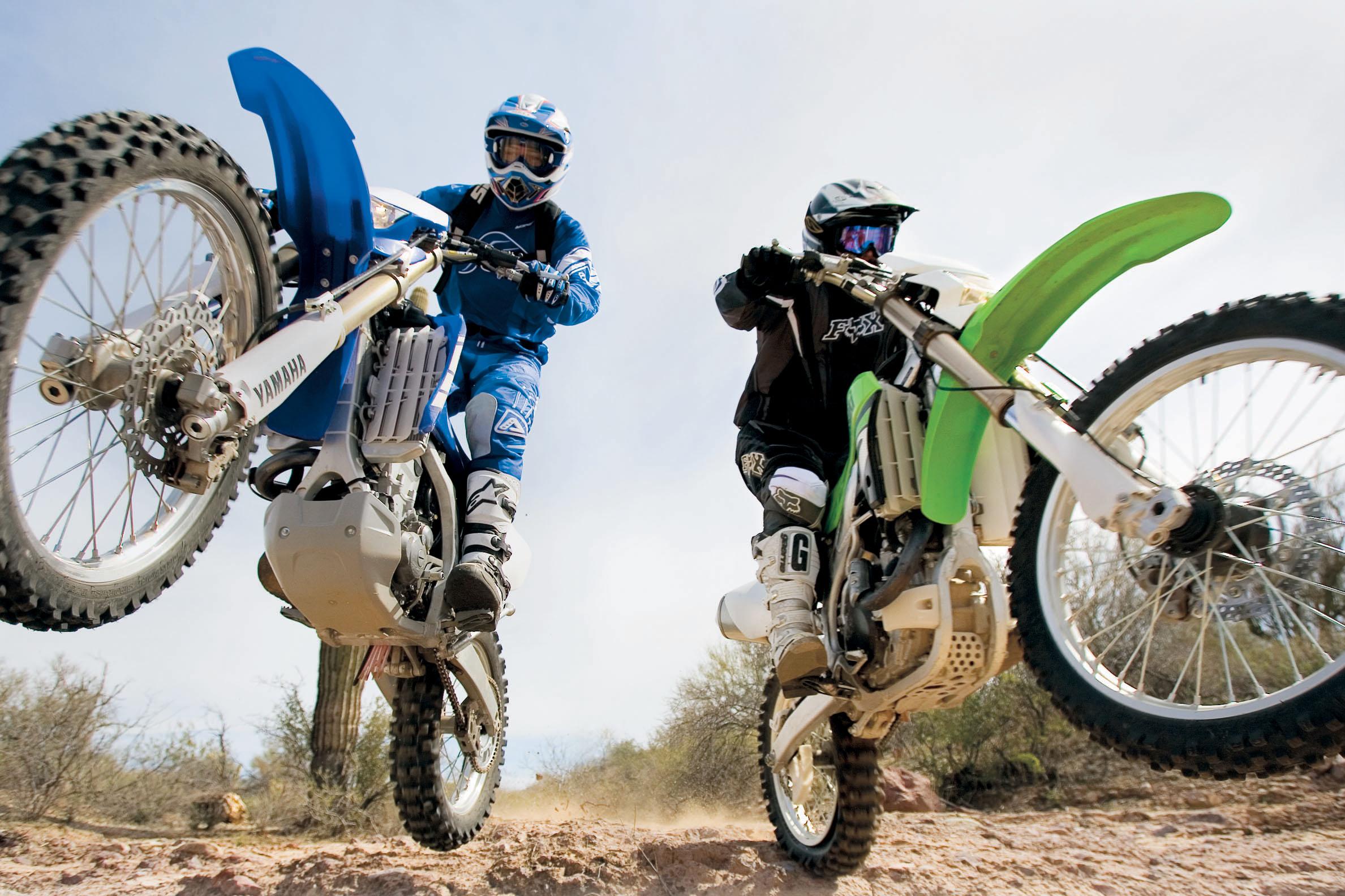 Kawasaki KLX450R vs  Yamaha WR450F Off-Road Motorcycle Review